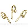 100 Pieces Gold Curtain Metal Shower Butterfly Curtain S Shape hook