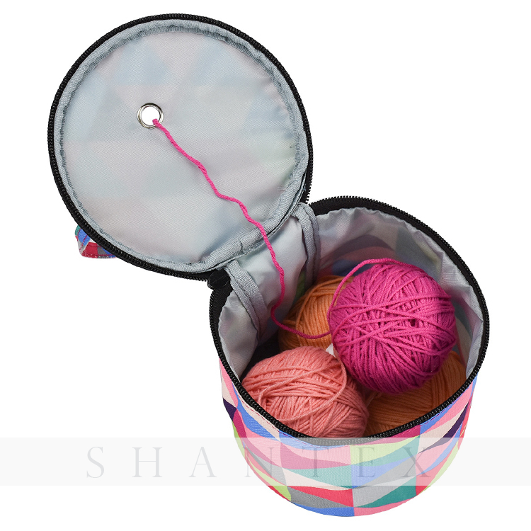 Knitting Bag Small Yarn Storage Tote Organizer Bag for Easy Carrying Needles And Crochet Hooks