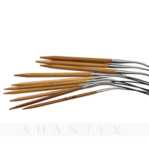 Durable In Use Wholesale DIY Round Circular Wood Bamboo Knitting Needles Sets For Hand Knitting Yarn