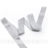 Frosted Silver Glitter Good Quality High Elasticity Customized Woven 1.8 inch Webbing Elastic Tape Metallic Elastic Band