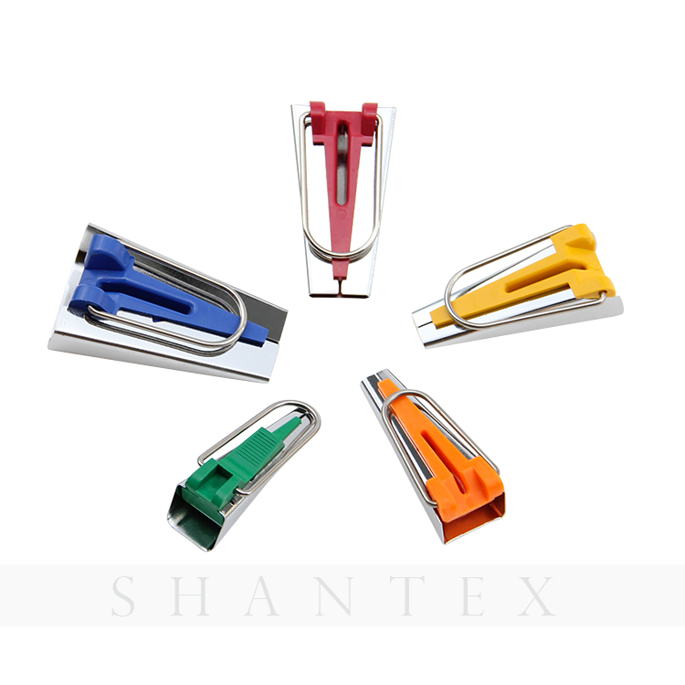 High Quality Different Colors Stainless Steel Bias Tape Maker Set Binding Tool Sewing Tool for Quilting
