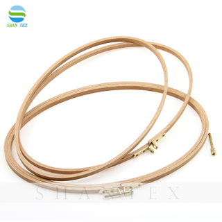 Whosale 29.5cm Diameter Embroidery Frame Ellipse Wooden Bamboo Embroidery Hoop