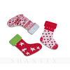 Colorful Christmas Stocking Socks Shape Printed Wood Button Christmas decoration buttons