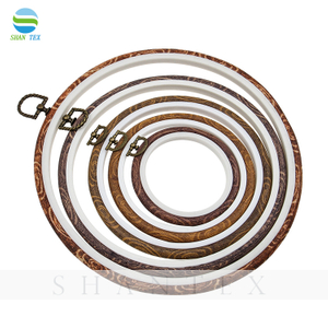 Imitation Wood Round Plastic Stitch Frame Embroidery Hoop