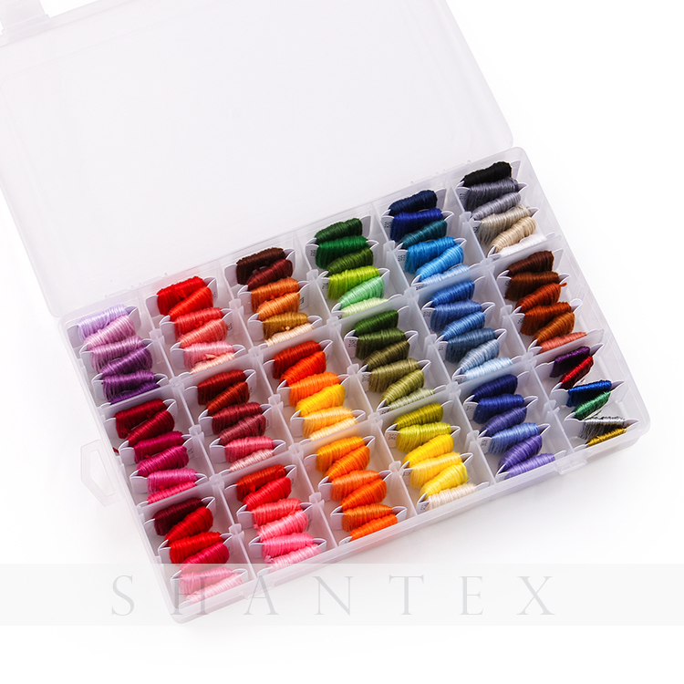 Embroidery Floss 108pcs DMC Colors Embroidery Thread String Kits with Storage Box 38 Pcs Cross Stitch Kits