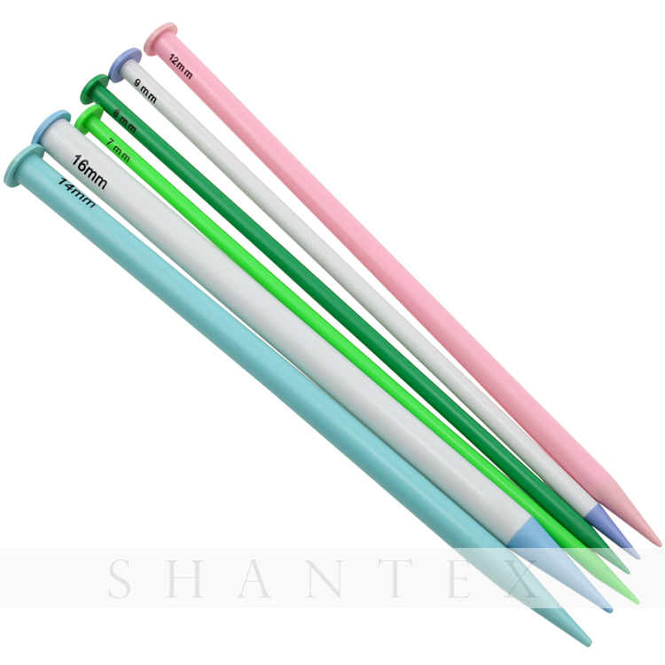 12PCS/SET Colorful Single Pointed Knitting Tool Sweater Needle Crochet Hook